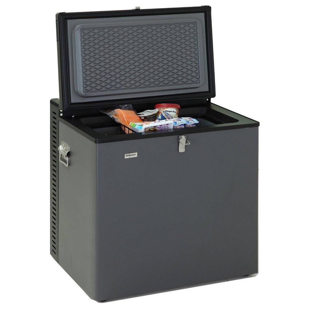 Smad Compact Chest Freezer LPG Camping Freezer Single Door Top Open 12V/110V Gas Freezer, 2.2 Cu.Ft