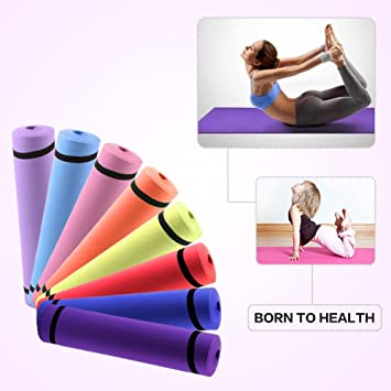 Relefree –Colchoneta para Yoga, Antideslizante, Material no Tóxico, Color Aleatorio …