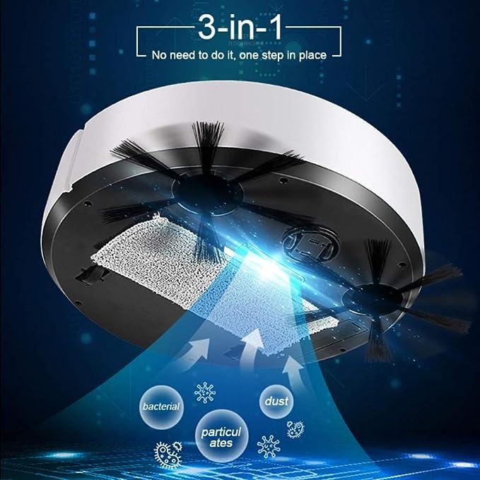 Hankyky ES28 Aspiradoras robóticas Inteligentes,3 en 1 Aspirador ...