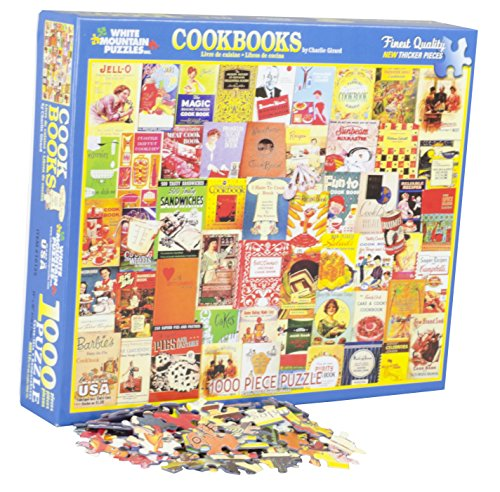 White Mountain Puzzles Cookbooks Collage - 1000 Piece Jigsaw Puzzle