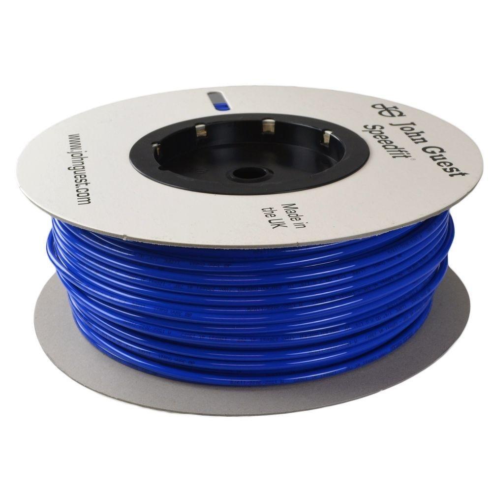 John Guest Blue 500 ft/roll 1/4'' Polyethylene Tube Tubing Drinking Water RO Reverse Osmosis DI Aquarium Pipe LLDPE