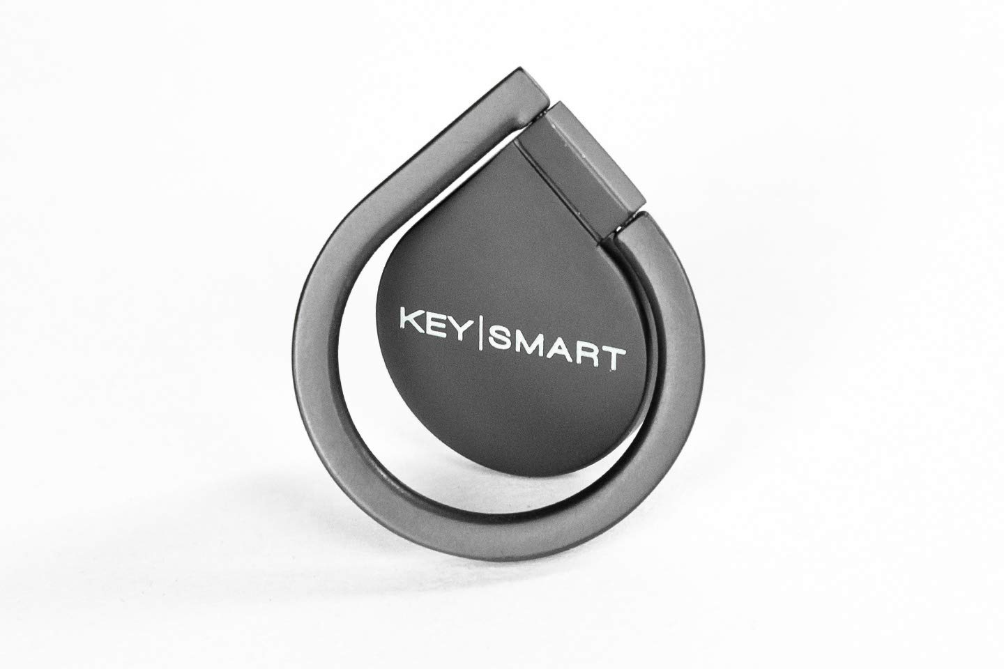 KeySmart Phone Loop - Aluminum Grip Ring & Stand (Black) by KeySmart