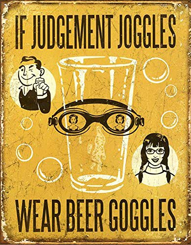 Make Goggles Beer (WallDector If Judgement Joggles Wear Beer Goggles Iron Poster Painting Tin Sign Vintage Wall Decor for Cafe Bar Pub Home Beer Decoration Crafts)