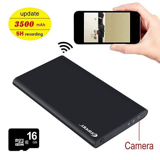 32 opinioni per Corprit Mini Telecamera Spia IP WiFi Full HD 1080P Batterie Esterna 3500 mAh