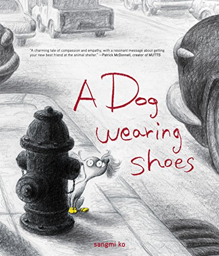 A Dog Wearing Shoes