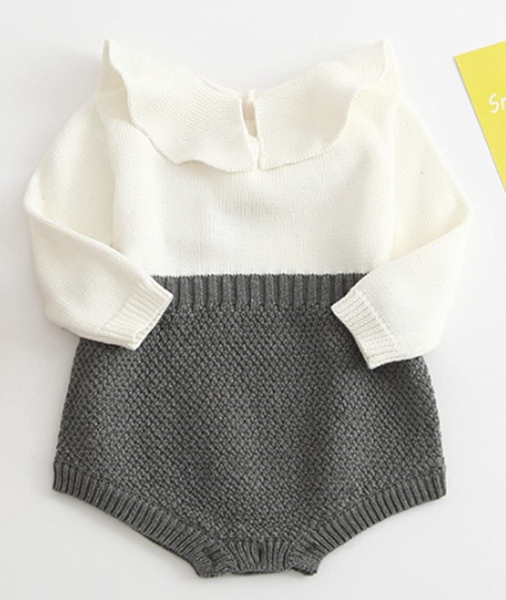 ce675f823 Amazon.com  BANGELY Baby Girl Wool Knit Sweater Romper Princess ...