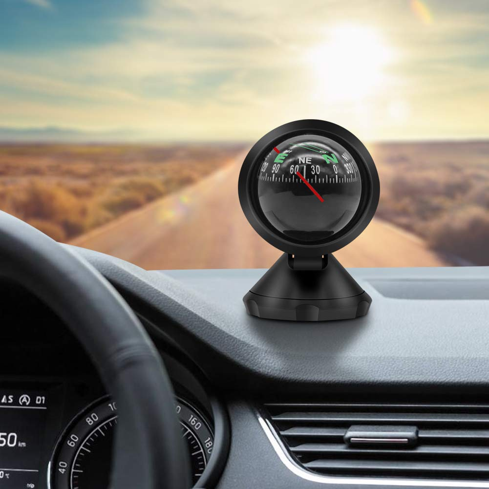 Windshield Dash Mount Pivoting Compass for Car Truck Vehicle Boat Automotive