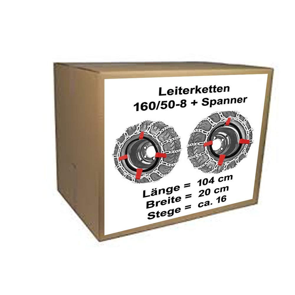 Schneeketten für Rasentraktor Stiga Villa 520 HST 320 HST mit 160//50-8 Reifen