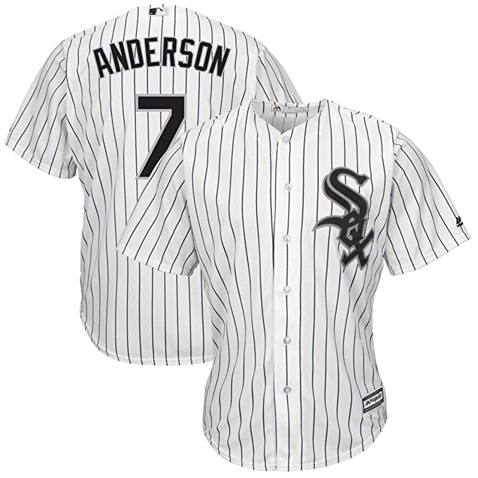 super popular 1e335 0467c Men's Chicago White Sox #7 Tim Anderson Home White Cool Base Player Jersey