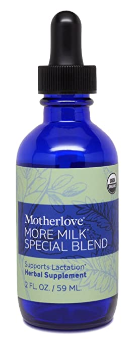 Motherlove More Milk Special Blend Organic Herbal Breastfeeding Supplement with Goat's Rue for Lactation Support, 2 oz Liquid Tincture