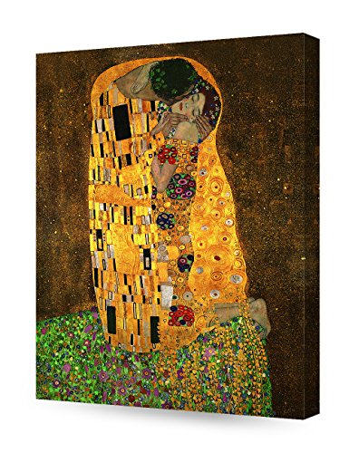 DecorArts - The Kiss, Gustav Klimt Art Reproduction. Giclee Canvas Prints Wall Art for Home Decor 20x16