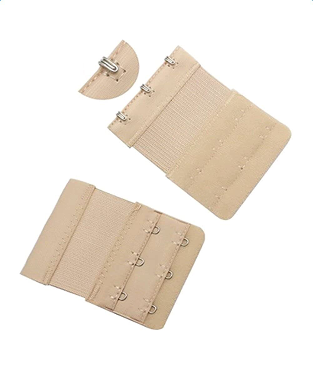 Qingsun Womens 3 Pcs Bra Extenders Brassiere Lingerie Underwear Extension Strap 2x3 Hooks 3 Colors