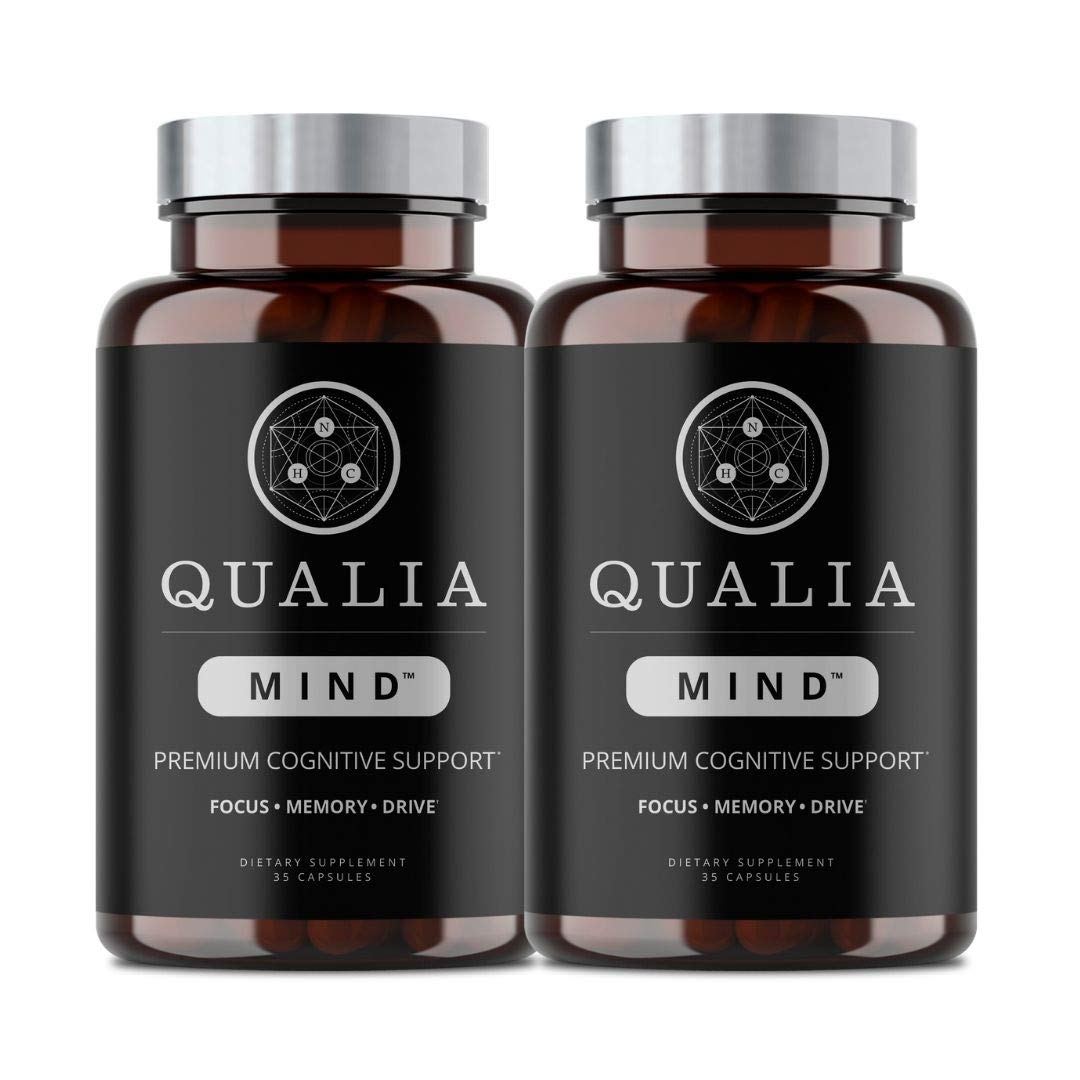 Qualia Mind Nootropics | Top Brain Supplement for Memory, Focus, Mental Energy, and Concentration with Ginkgo biloba, Alpha GPC, Bacopa monnieri, Celastrus paniculatus, DHA & More | (35 ct.) 2-Pack