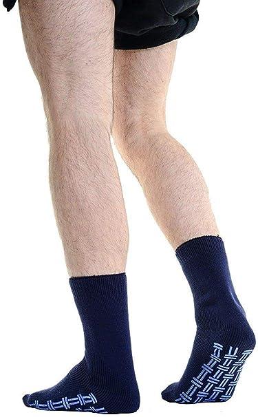 Mens Non Slip Slipper Socks 2.6 Tog Rated Thermal 2 pair pack