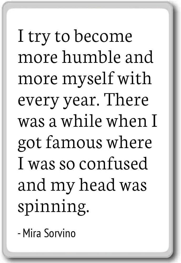 Imán para nevera con citas de Mira, Sorvino con texto en inglés
