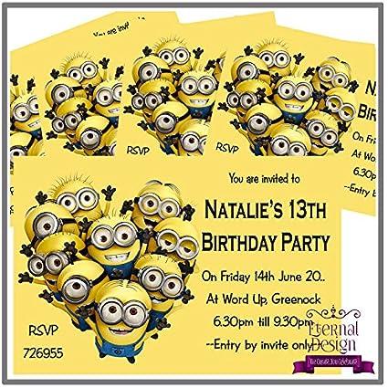 Eternal Design - 5 invitaciones de cumpleaños personalizadas ...