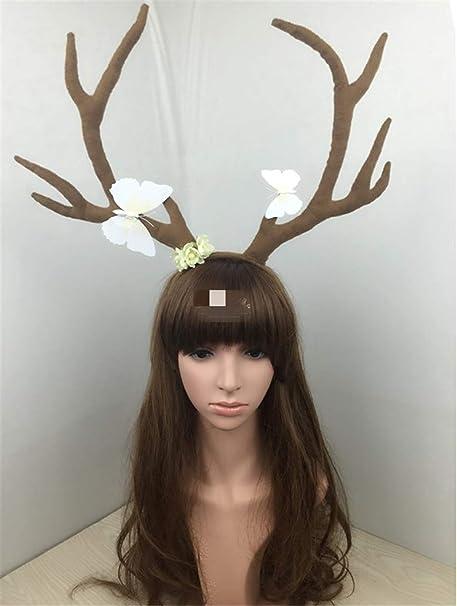 Diadema para disfraz de cuerno de ciervo con ramas de cuernos y ...