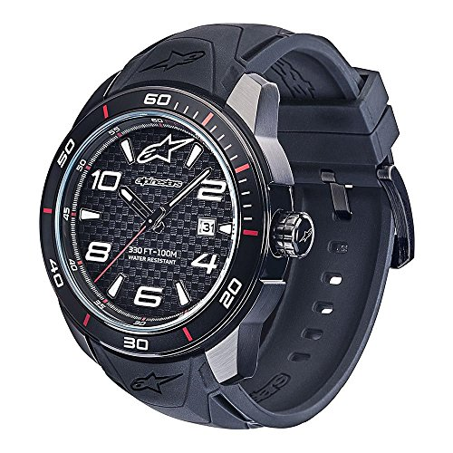 45mm Case Chronograph - Alpinestars Men's Wrist Tech Watch 3H - Black/Black 45mm Case