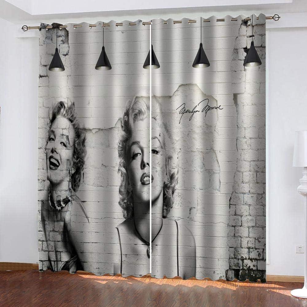 BFSOC Vorhnge Graue Marilyn Monroe Wrmedmmvorhang ...