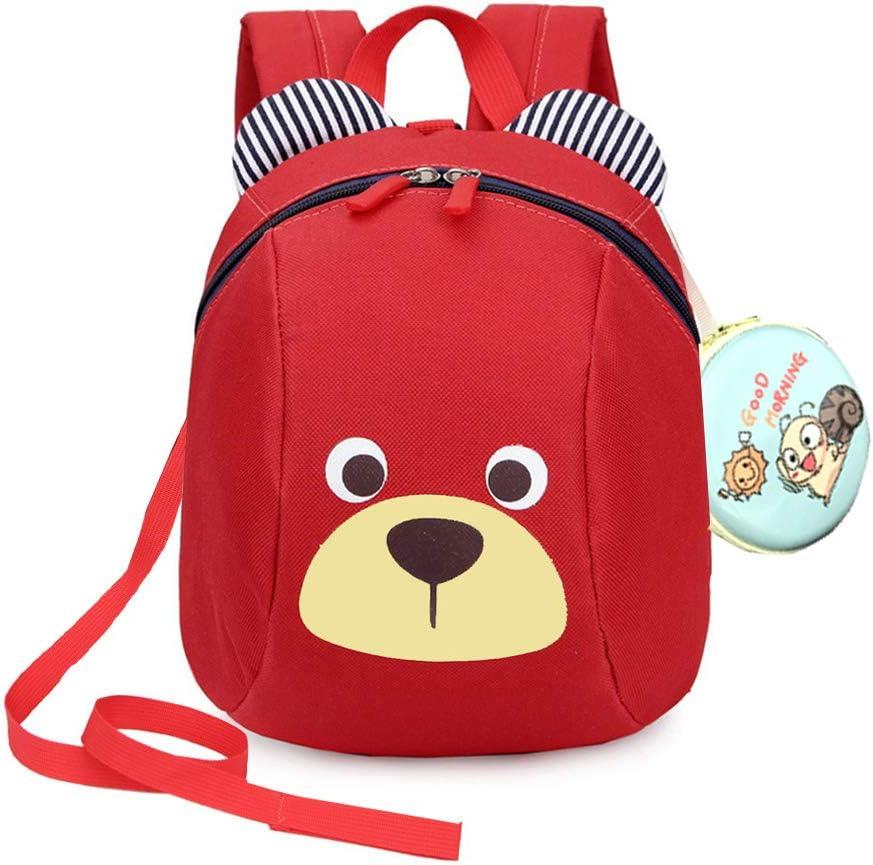 Kids Cartoon Bear Strap Bag Baby Safety Harness Reins Backpack LA