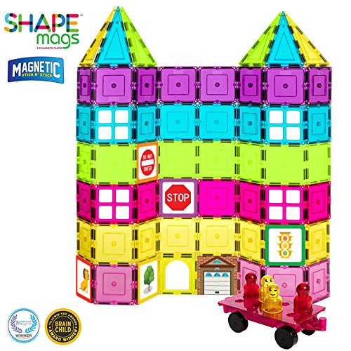 Shapemags Magnetic Tiles Building Set