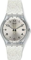 Swatch Originals Silverblush Silver Dial Silicone Strap Unisex Watch GM416C