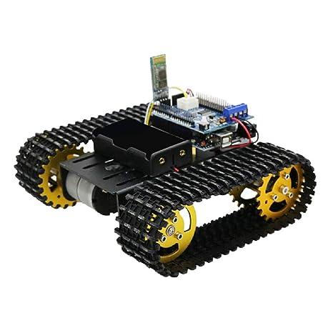 SM SunniMix Kit de Chasis Carro Tanque Robot Arduino Inteligente con Control Romoto Bluetooth DIY