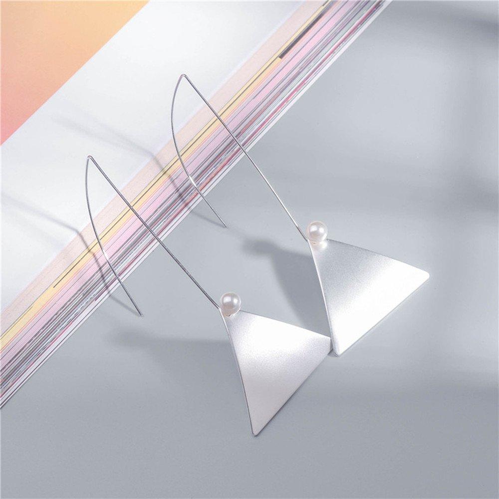 MissNity Fashionable Dangle Drop Earrings Women Silver Plated Geometric Pierced Ears Jewelry Gift Her