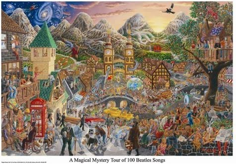 Buyartforless A Magical Mystery Tour of 100 Beatles Songs by Tom Masse 32x22 Music Art Print Poster Rock and Roll Man Cave / Buyartforless A Magical Mystery Tour of 100 Beatles Songs by Tom Masse 32x22 Music Art Print Poster Rock a...