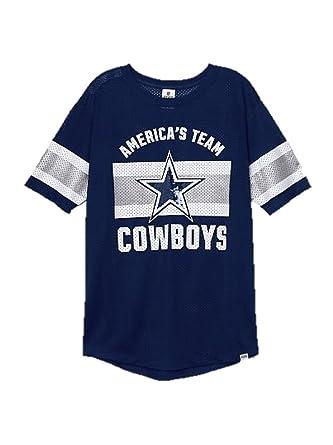 636909402 Victoria's Secret PINK Dallas Cowboys Bling Jersey T-shirt Navy (X-Small)