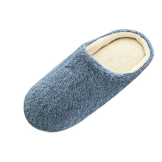 Bestow Zapatillas de algodón abrigadas Antideslizantes Interiores de los Hombres Zapatos de algodón cálidos Zapatos de Hombre: Amazon.es: Ropa y accesorios