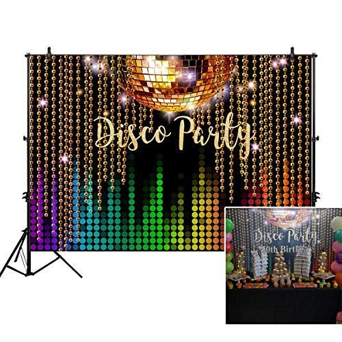 Allenjoy 7x5ft Photography backdrops Disco Neon Adults Party Decoration Decor Birthday Party Event Banner Photo Studio Booth Background -