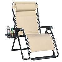 Deals on GOLDSUN Oversize Padded Zero Gravity Patio Lounge Chair