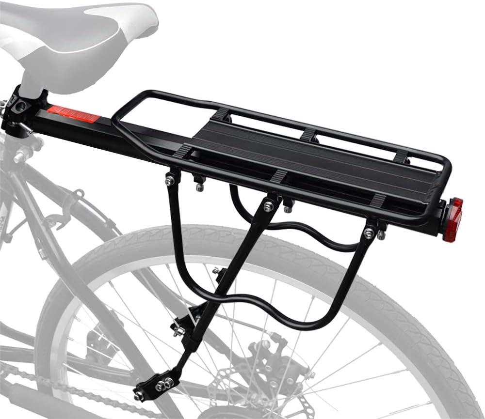 HEYNEMO Bike Rack, Universal Adjustable Bicycle Carrier Racks, Luggage Cargo Rack Bicycle Carrier 110 Lb Capacity, Height Adjustable Bicycle Rear Frame Mounted Cargo Rack