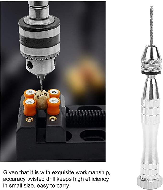 Horn for Drilling Wood AMONIDA Aluminum Alloy Hand Drill Hand Twisted Drill