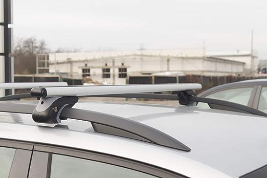 Adamot Barres de Toit Universelle en Aluminium pour Barre de Toit dorigine Ouverte 120 cm rainure T-20 mm
