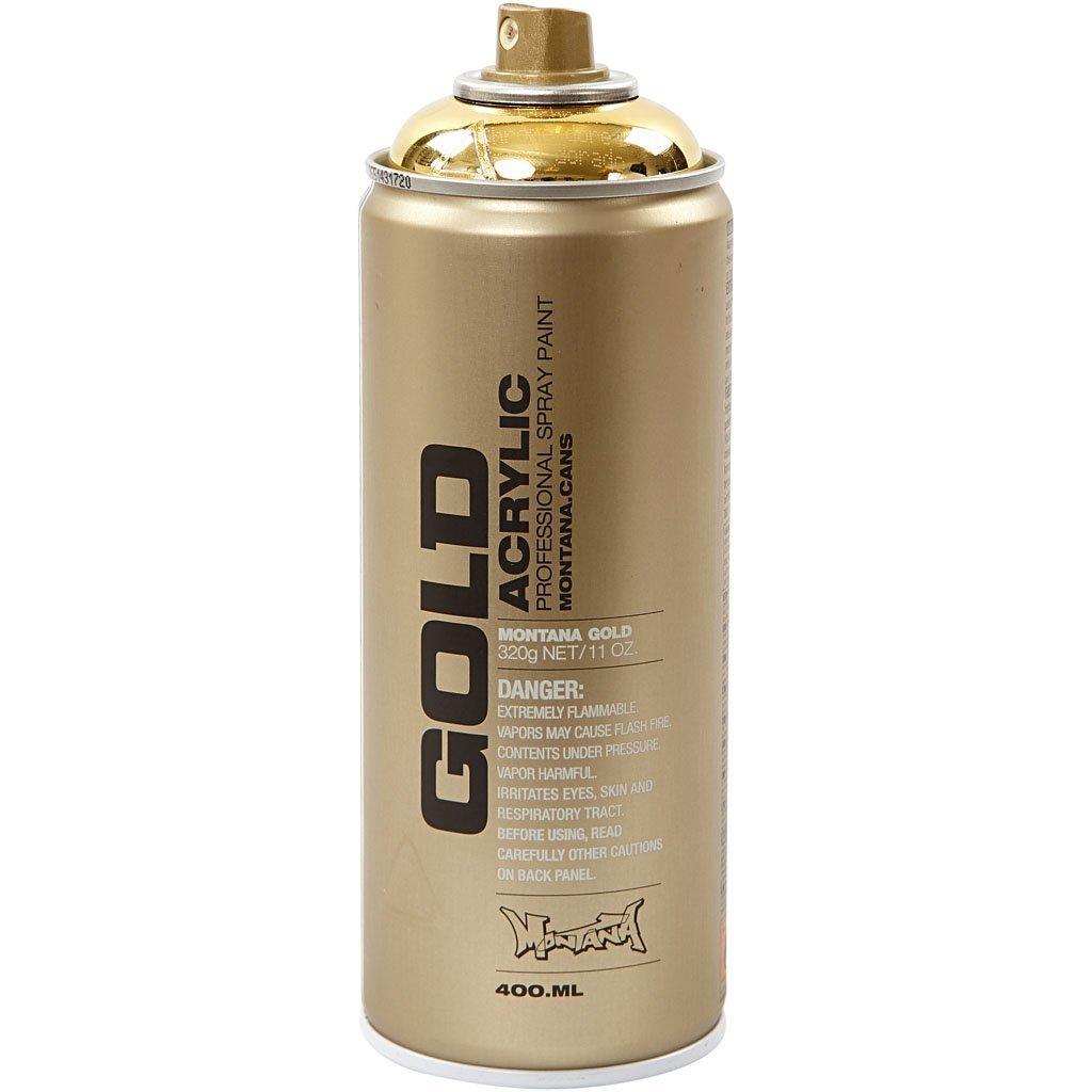 Montana Gold Acrylic Professional Spray Paint 400 Ml Goldchrome