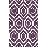Safavieh CHT731F-3 Chatham Collection Purple and Ivory Wool Area Rug, 3-Feet by 5-Feet
