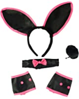 Sexy Bunny Costume Set - Bunny Ears Collar Cuffs & Tail For Adults Funny Party Hats