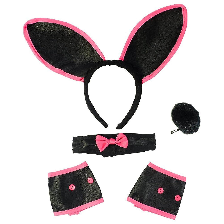Amazon.com: Sexy Bunny Costume Set - Bunny Ears Collar Cuffs ...