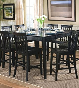 Amazoncom Springfield Black Dining Room Table Coaster 101038BLK