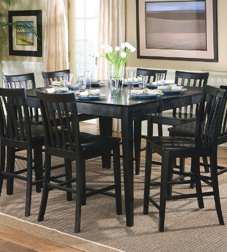 Amazon.com   Springfield Black Dining Room Table   Coaster 101038BLK  Efurnitureshowroom   Tables