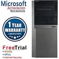 Dell 960 Business High Performance Tower Desktop Computer PC (Intel C2Q Q8200 2.33G,4G RAM DDR2,1TB HDD,DVDRW,Windows 10 Professional)(Certified Refurbished)