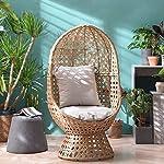 Garden Swivel Egg Chair Rattan Effect