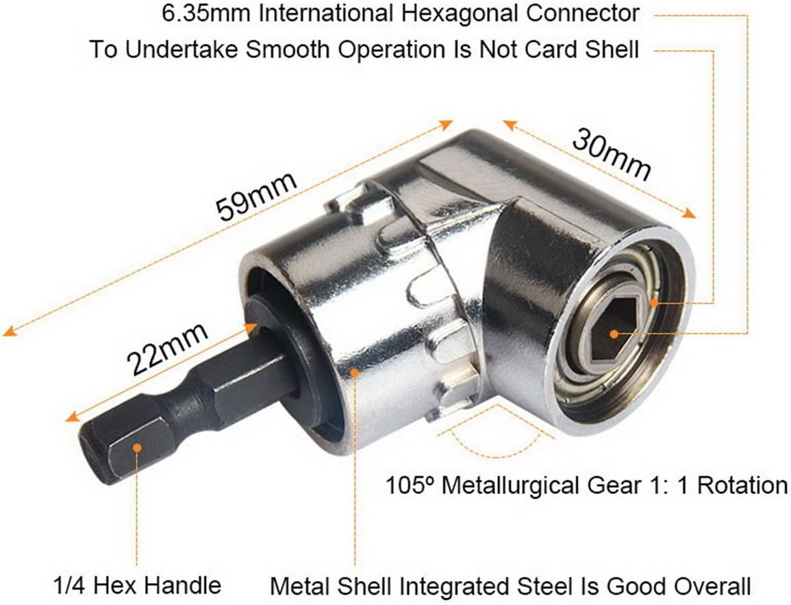 Silver 7mm-19mm Professional Wrench Power Drill Adapter Unique Repair Tools Universal Socket Multi-Function Universal Sockets Right Angle Drill