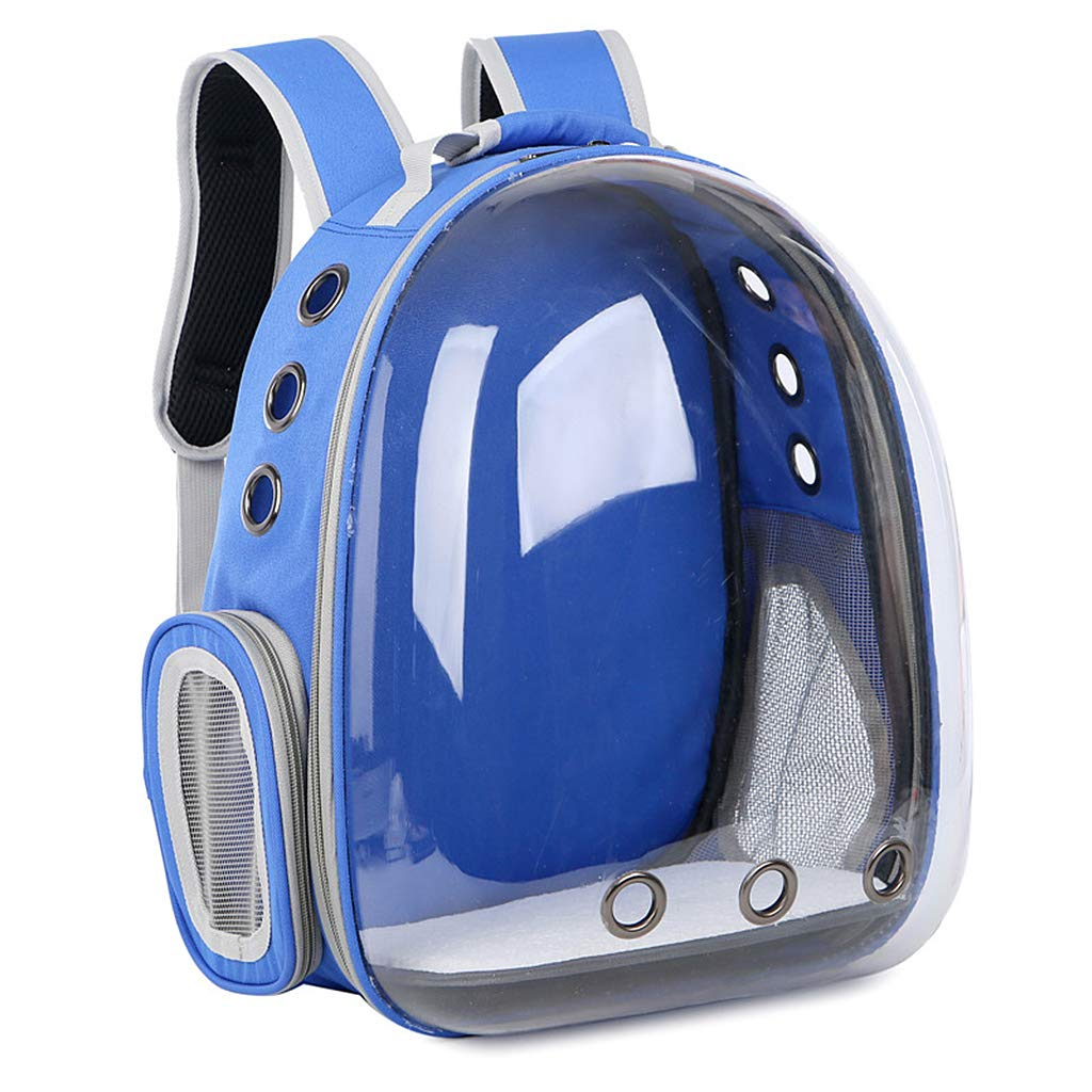 bluee Keahup Breathable Transparent Capsule Pet Cat Puppy Travel Space Backpack Carrier Bag bluee