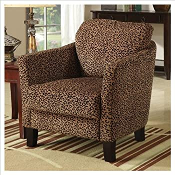 Amazon Com Adf Accent Chair With Zebra Print In Black