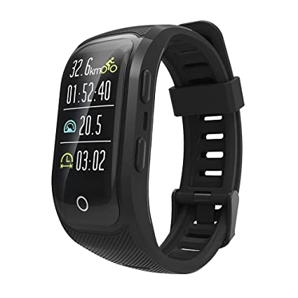 Maikibes G03 Plus smartwatch Fitness Pulsera Impermeable IP68 Fitness Tracker Bluetooth podómetro con GPS Mens Ladies Kids Compatible con iPhone ...