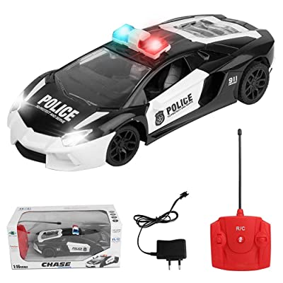 ECCRIS RC Remote Control Police Car Toys with Flash Light and Siren Sound Perfect Christmas Birthday Gift: Toys & Games