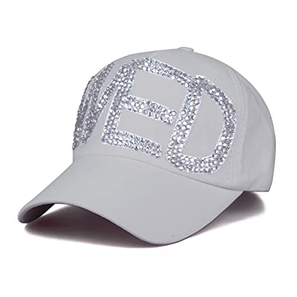 10454867159c7 Cozylkx WED Dad Hat Rhinestone Baseball Cap Adjustable Snapback Hat ...